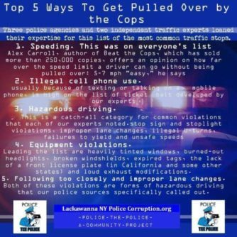 false stop reasons for police to pull you over